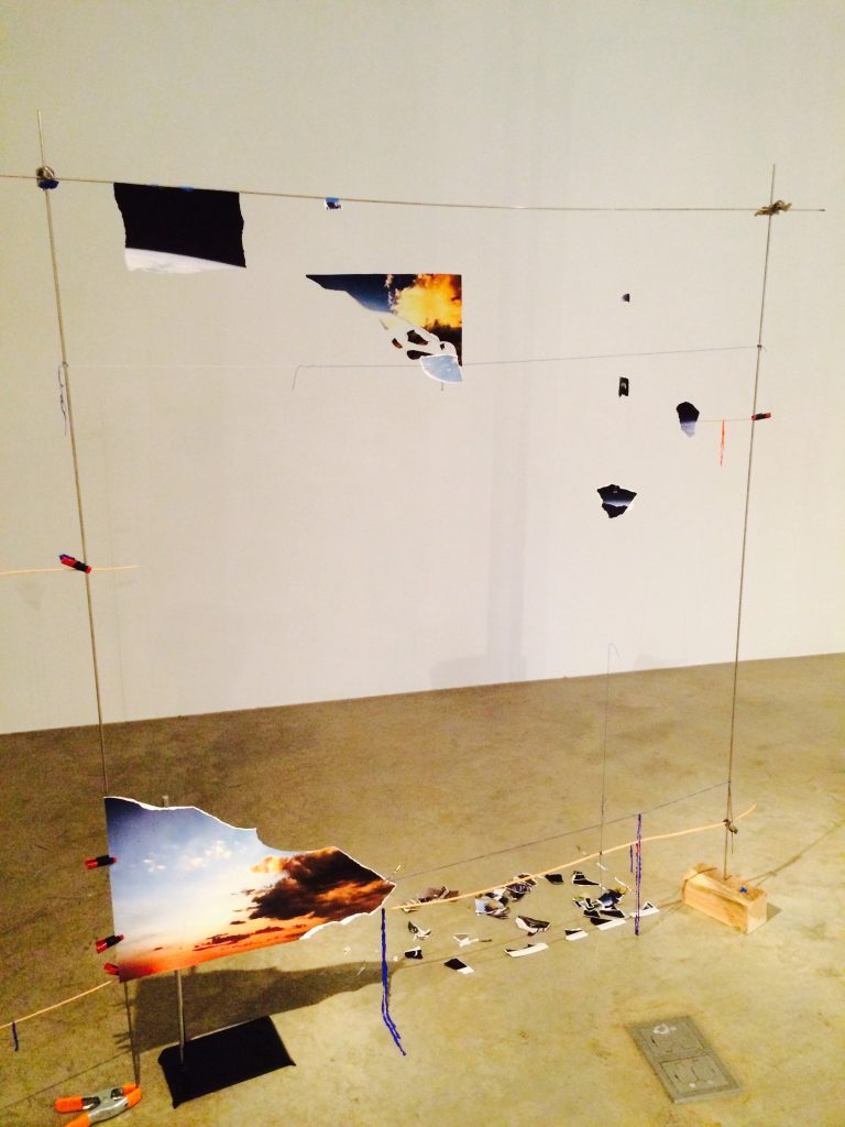Sarah Sze, framing fragments of sky (photo by me)