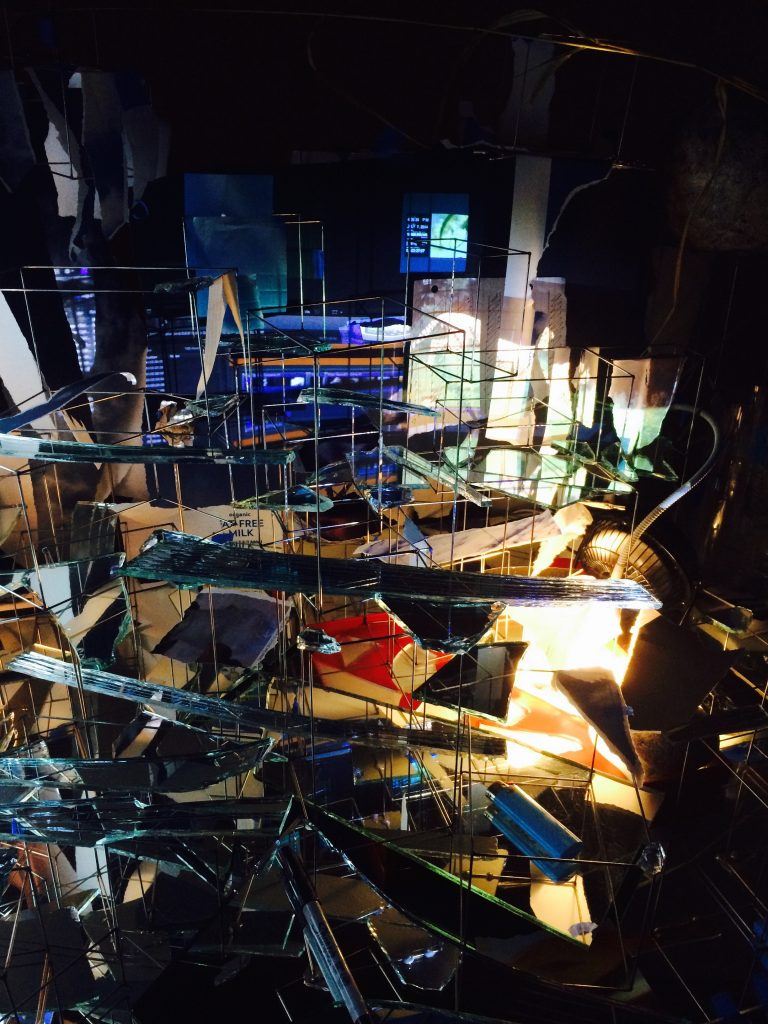 Sarah Sze, windows and shards and screens (photo by me)